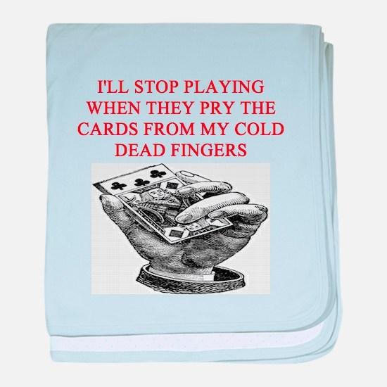 duplicate bridge player joke Infant Blanket