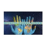 Infinite Funds Global Hand Map Wall Decal