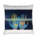 Infinite Funds Global Hand Map Everyday Pillow