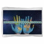 Infinite Funds Global Hand Map Pillow Sham