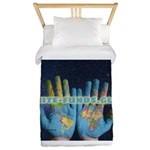 Infinite Funds Global Hand Map Twin Duvet Cover