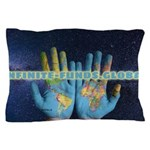 Infinite Funds Global Hand Map Pillow Case