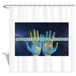 Infinite Funds Global Hand Map Shower Curtain
