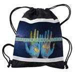 Infinite Funds Global Hand Map Drawstring Bag