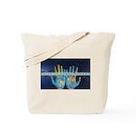 Infinite Funds Global Hand Map Tote Bag