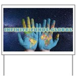 Infinite Funds Global Hand Map Yard Sign