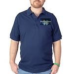 Infinite Funds Global Hand Map Dark Polo Shirt