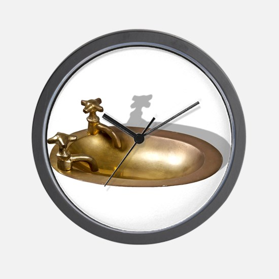 Even the Kitchen Sink Wall Clock