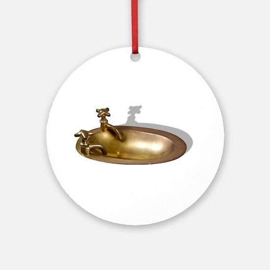 Even the Kitchen Sink Ornament (Round)