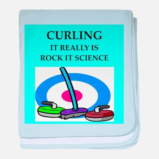 i love curling Infant Blanket