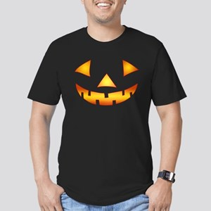 Jack-o-lantern Pumpkin Men's Fitted T-Shirt (dark)