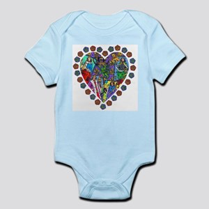 French Tarot Heart Infant Creeper