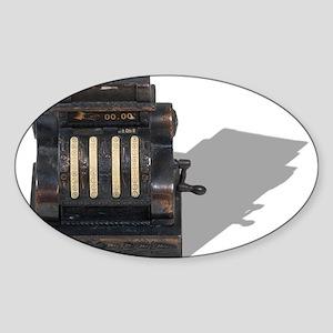 Antique Cash Register Sticker (Oval)