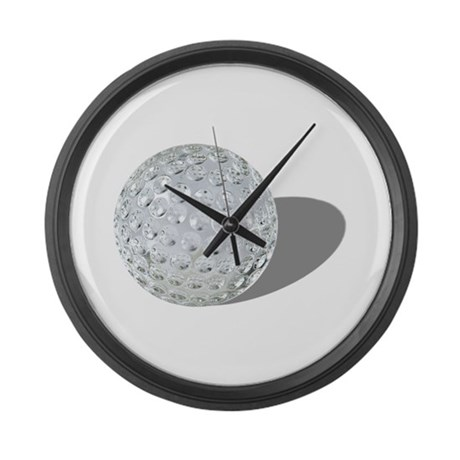 Golf Crystal Ball Large Wall Clock