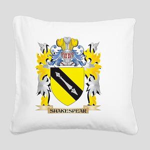 Shakespear Family Crest - Coa Square Canvas Pillow