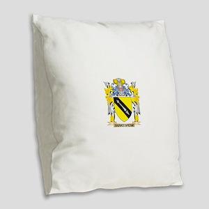 Shakespear Family Crest - Coat Burlap Throw Pillow