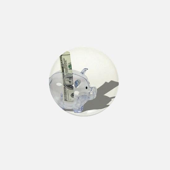 Money Piggy Bank Mini Button