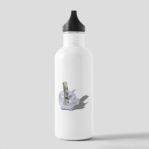 Money Piggy Bank Stainless Water Bottle 1.0L