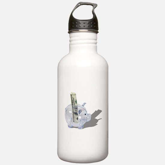 Money Piggy Bank Water Bottle