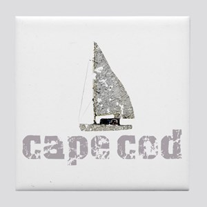 Cape Cod Sailboat Tile Coaster