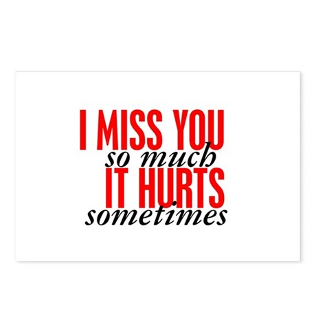 Miss You So Much It Hurts Postcards Package Of 8 By Kinnikinnick