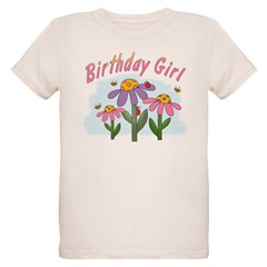 Silly Flowers Birthday Girl T-Shirt