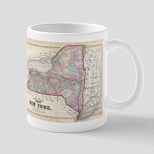 Vintage Map of New York (1873) Mugs