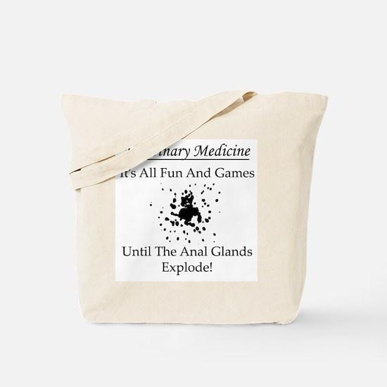 Anal Gland Design Tote Bag