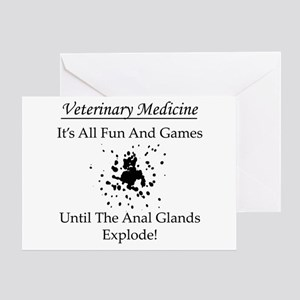 Anal Gland Design Greeting Card