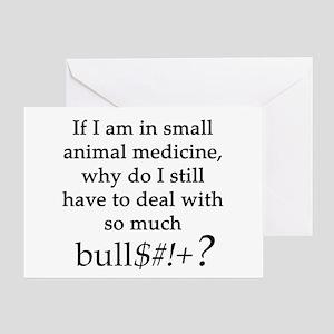 Small Animal Medicine Bull**** Greeting Card