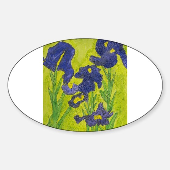 Abby H's Irises Sticker (Oval)