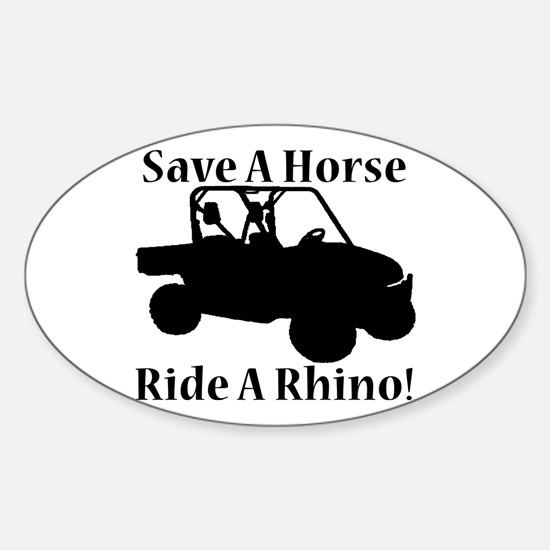 Save a Horse Sticker (Oval)