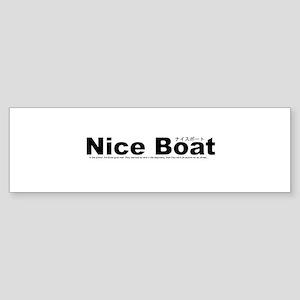 Nice Boat Sticker (Bumper)