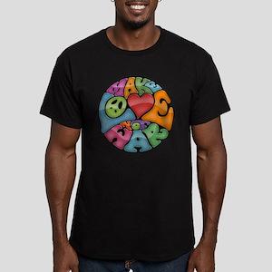 Make Love Not War -mc Men's Fitted T-Shirt (dark)