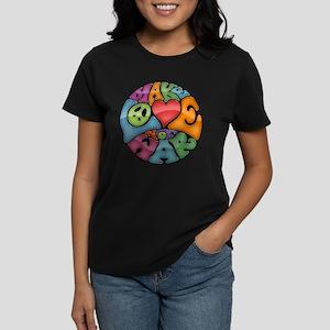 Make Love Not War -mc Women's Dark T-Shirt