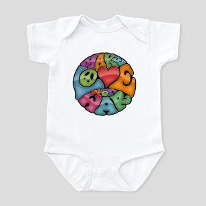 Make Love Not War -mc Infant Bodysuit
