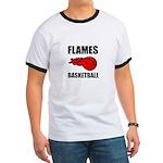 Flames Basketball Ringer T