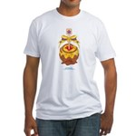 Kawaii Yellow Candy Apple Fitted T-Shirt