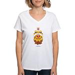 Kawaii Yellow Candy Apple Women's V-Neck T-Shirt