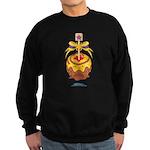 Kawaii Yellow Candy Apple Sweatshirt (dark)
