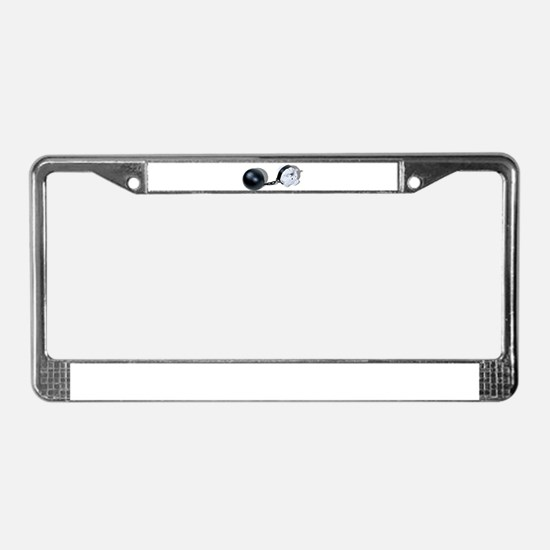 Piggy Bank Ball and Chain License Plate Frame