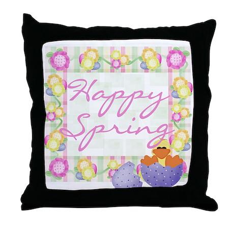 Happy Spring Throw Pillow