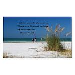 Simple Pleasures Sticker (Rectangle 50 pk)