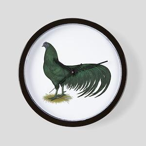 Sumatra Black Rooster Wall Clock