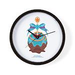 Kawaii Blue Candy Apple Wall Clock