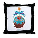Kawaii Blue Candy Apple Throw Pillow