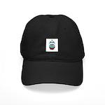 Kawaii Blue Candy Apple Black Cap