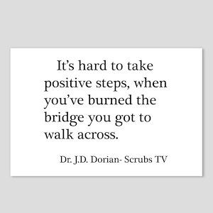 J. D. Burned Bridges Quote Postcards (Package of 8