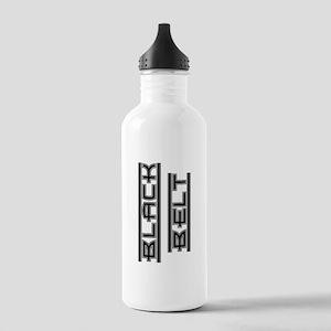 Bold Black Belt Stainless Water Bottle 1.0L