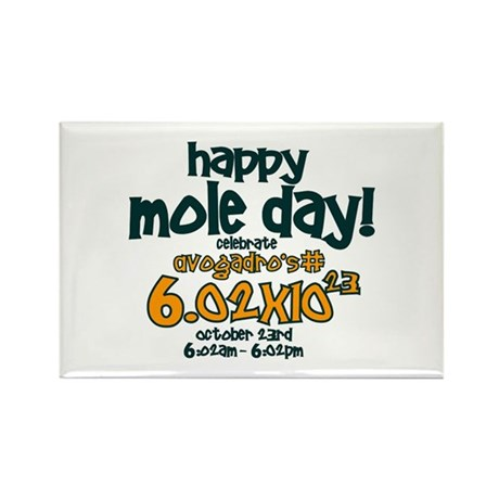 Happy Mole Day ! Rectangle Magnet (10 pack)
